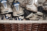 A big basket on the floor keeps Joe's sneakers neat and tidy