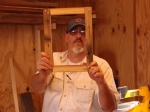 Courtesy: J.R. Portman, Movie set designer shows off his lap joint frame