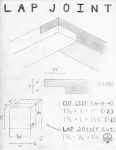Courtesy: J.R. Portman, Sketch and measurements for lap joint frame