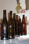 Beer and wine bottles ready to decorate