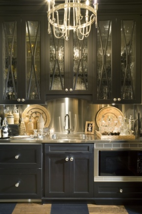 Dark and Elegant Kitchens