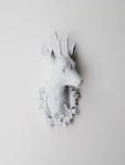 White Stag Deer Head, White Faux Taxidermy