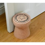 Oversized cork doorstop