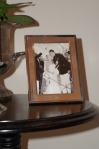 Framed wedding photo finished off the vignette