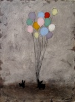 Rebecca Rebouche, Bunnies with Balloons