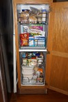 Kitchen pantry with new Rev-A-Shelf organizers