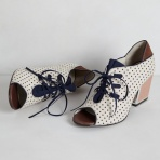 Anthropologie Heather Lace-up Heels