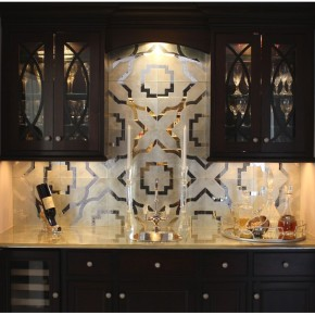 Antique Mirrored Backsplash