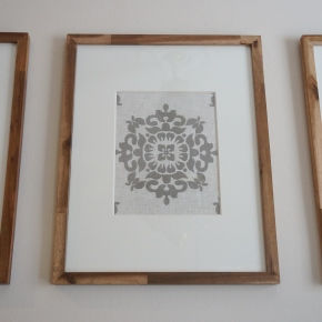 Framed Fabric Wall Art