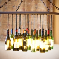 Chad Gordon Custom Wine Bottle Chandelier