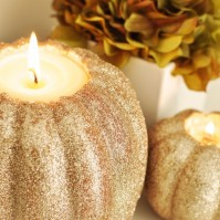 Glitter Pumpkin Candles, Courtesy Style Motivation