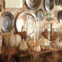 Pumpkins and Plates, Courtesy Indulgy