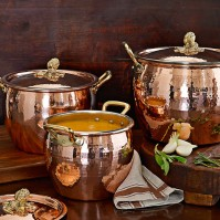 Ruffoni Copper Artichoke Handled Stock Pots, William Sonoma