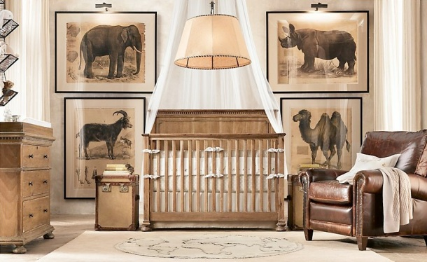 Restoration Hardware Safari Inspired Nursery