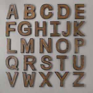 Restoration Hardware Vintage Industrial Letters