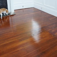 AFTER Finished antique pine floors