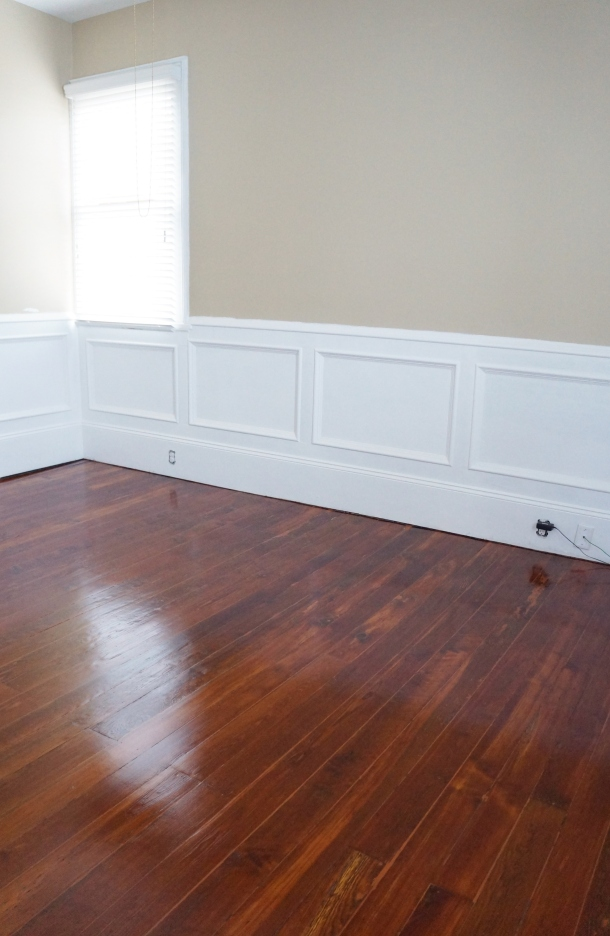 Finished antique pine floors