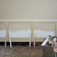 BEFORE Step three: begin filling in with decorative moulding