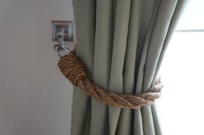 DIY Rope Tiebacks
