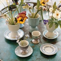 Martha Stewart Flowers in Egg Cups