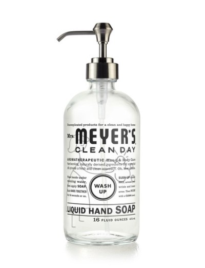 Mrs Meyers Glass Hand Soap Bottle 10