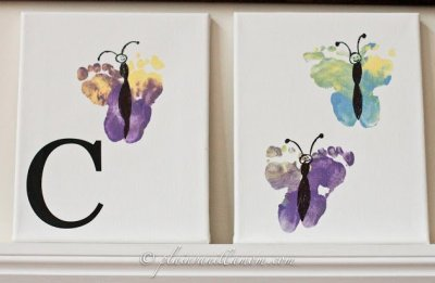 Plain Vanilla Mom DIY Butterfly Footprint Cost of Supplies