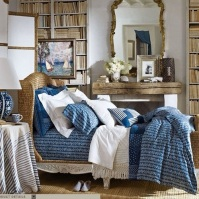 British Colonial Blues: Guest Bedroom Inspiration