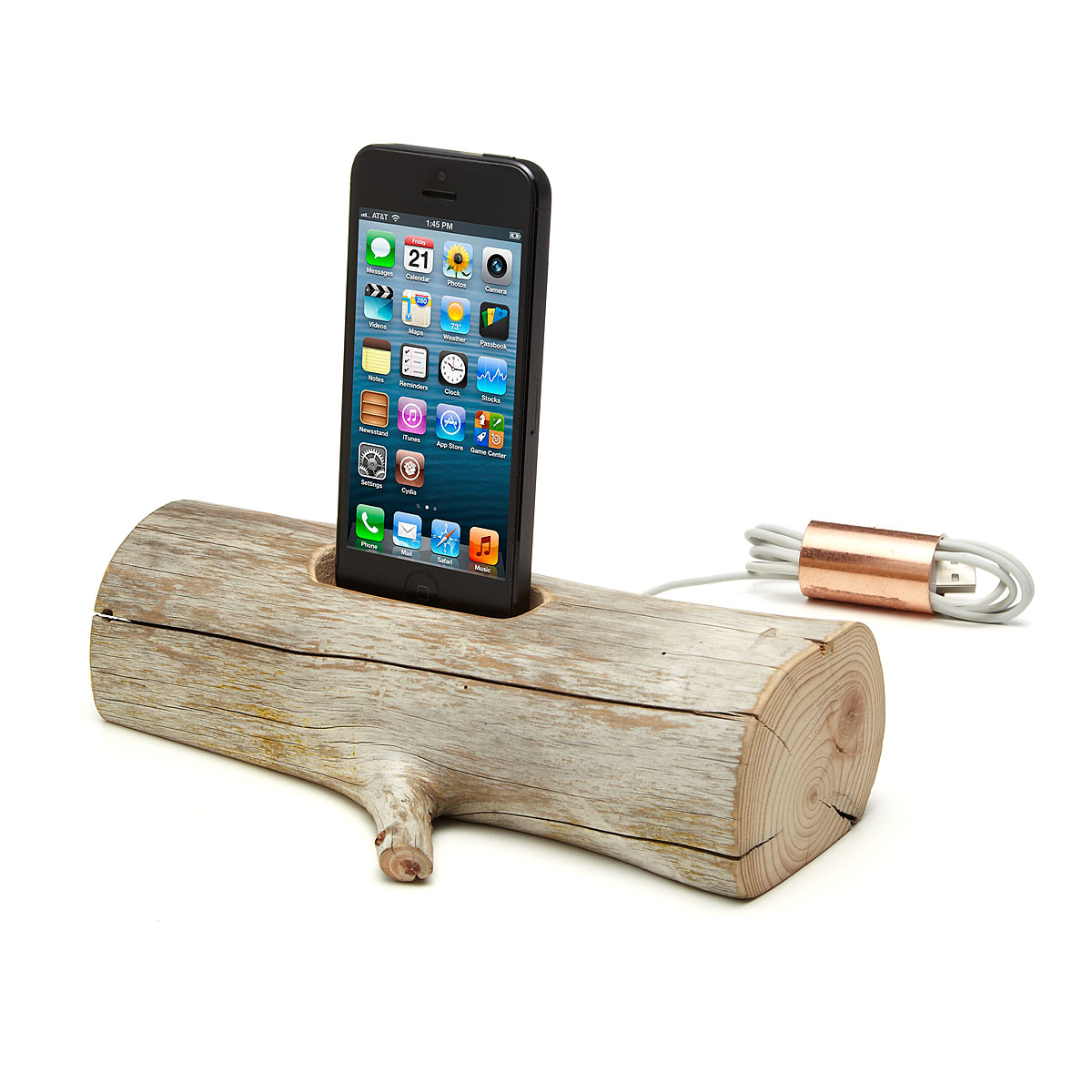 Driftwood iPhone Dock