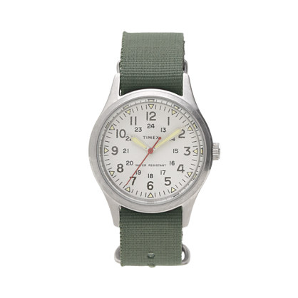Timex for J Crew Vintage Field Army Watch