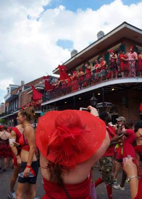 New Orleanians Paint the Town Red