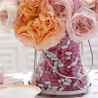 Candy filled vase from Lowes