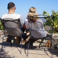 Relaxing on the terrace at Viansa Winery in Sonoma Valley