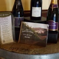 Sparkling wine offerings at Gloria Ferrer Winery in Sonoma Valley