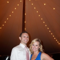 Under the dinner tent at Cornerstone Winery in Sonoma Valley
