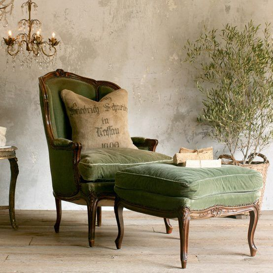 Green Chair, Courtesy Roses and Rust Blogger