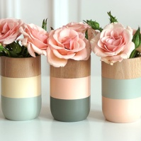 Painted wooden vase from Country Living