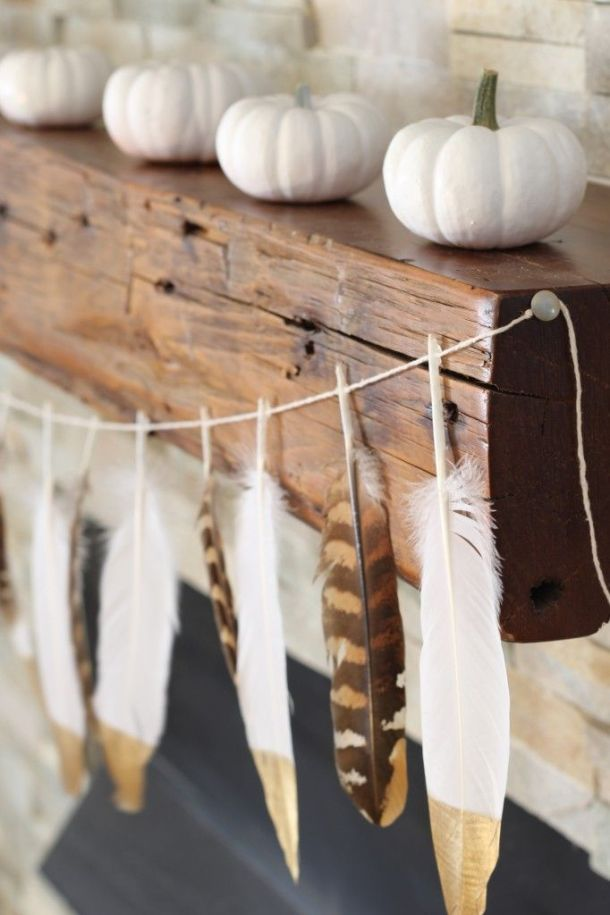 Feather garland, Simple Stylings