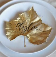 Leaf placecards, My Life and Kids