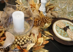 Glowing with gold: My Thanksgiving table