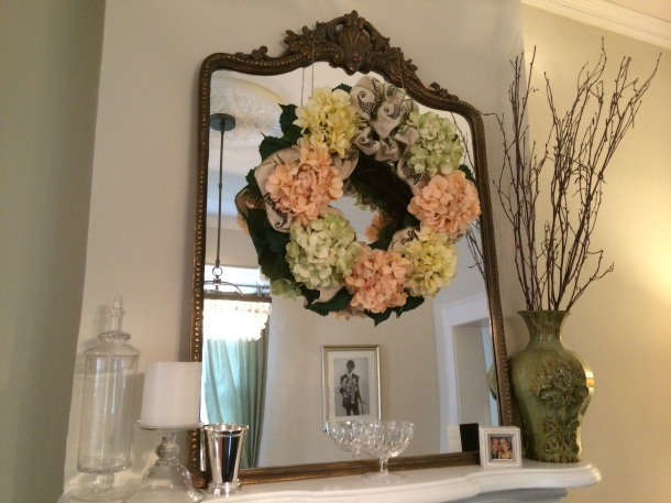 DIY Silk Hydrangea Wreath
