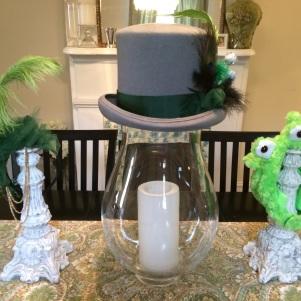 Mardi Gras martian headband, hat and baby hood