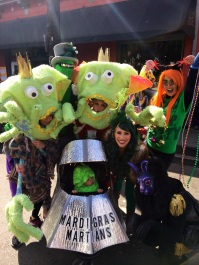 Mardi Gras martians in French Quarter