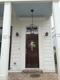 Greek Revival detail on neighbor's door