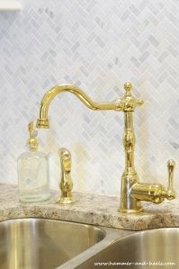 Brass faucet and accents
