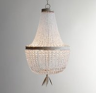 Restoration Hardware Baby and Child Dauphine Crystal Empire Chandelier