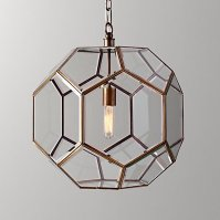 Restoration Hardware Baby and Child Giles Faceted Sphere Lantern Pendant