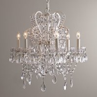 Restoration Hardware Baby and Child Manor Court Crystal Candelier